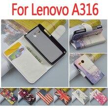 Роскошный кожаный чехол для Lenovo A316 A316i/316 316I я откидная крышка корпуса с LenovoA316 LenovoA316i телефон Чехлы