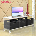 ONE LUX Lcuite Acrylic TV Stand Table,Plexiglass Cabinet With Removable Trays,Perspex Living Room Side Wall Corner Tables