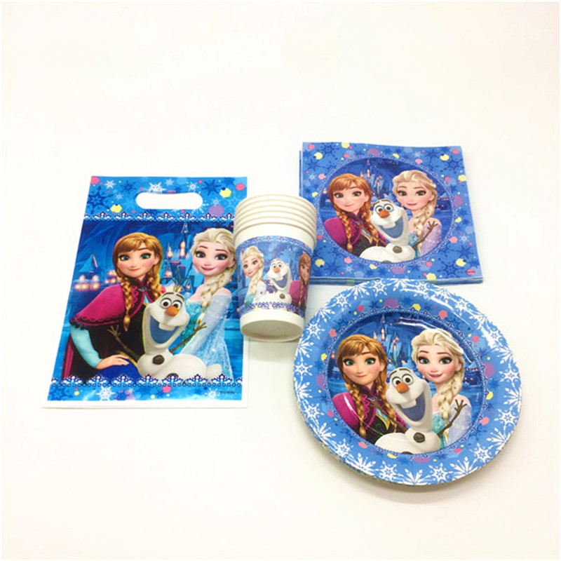 Frozen Theme Birthday Party Elsa Anna Supplies Favor Tableware Kids Decor Gift