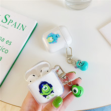 Cartoon Monsters Universitye Bluetooth Earphone case for airpods 2 unique cute sulley Mike soft Silicone tpu Cover Accessories(China)
