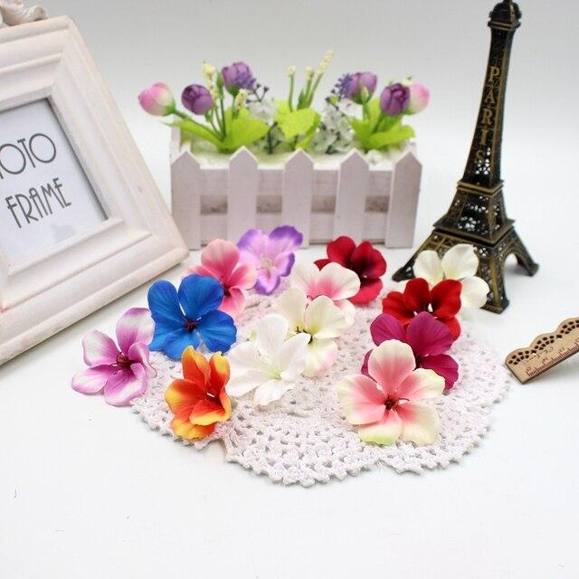 20 штук Весна шелк градиент орхидеи искусственные цветы для свадьбы украшения дома Orchis Mariage Флорес Cymbidium цветы растения