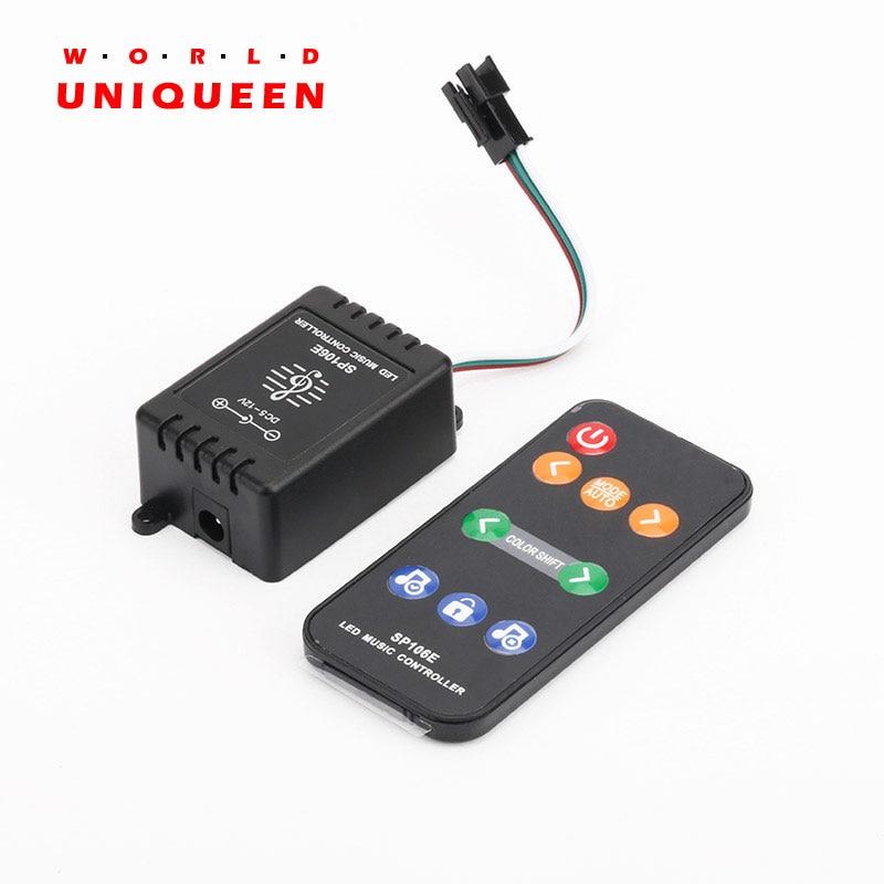 2.4 ghz RF musica di controllo remote controller per 1903 2811 2812 16703 1914 pixel digitale colore di sogno luce di striscia, pixel consiglio