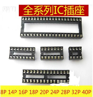8Pins DIP DIP-8 IC Socket Test Socket Round Hole Square type pin DIP8 DIP14 DIP16 DIP18 DIP20 DIP24 DIP28 DIP32 DIP40 programmer testing clip sop8 sop soic 8 soic8 dip8 dip 8 pin bios 24 25 93 flash chip ic socket adpter test clamp