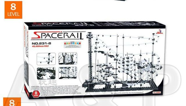 Toy Roller Coaster, Space Rail Level 8, Space rail Warp Drive, Help for Imagination, EQ, Creation, Science, Physical, Mechanical
