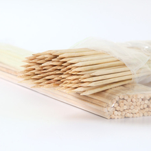Natural Bamboo Skewers Sticks BBQ Barbeque Fruit Kabob Fondue Roasting-Fork 40cm x 4mm Twister Cotton Floss Sticks for 200pcs