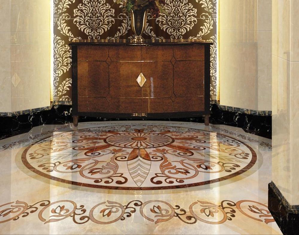 US $27.95 57% OFF|Dekoration boden 3D Tapete stock muster marmor 3D Boden  kunst wandbilder Für wohnzimmer Badezimmer Wasserdichte PVC 3d  Bodenbelag-in ...