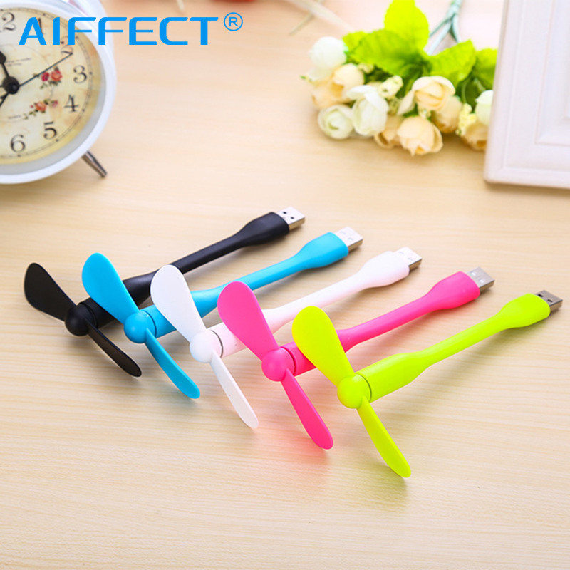 AIFFECT Cute Portable Flexible Mini USB Fan Bendable removable Gadgets For all Power Supply Output