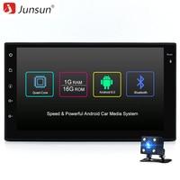 Junsun Evrensel 2 din Android 6.0 Araba DVD oynatıcı GPS + Wifi + Bluetooth + Radyo + Quad Core 7 inç 1024*600 ekran araba stereo radyo