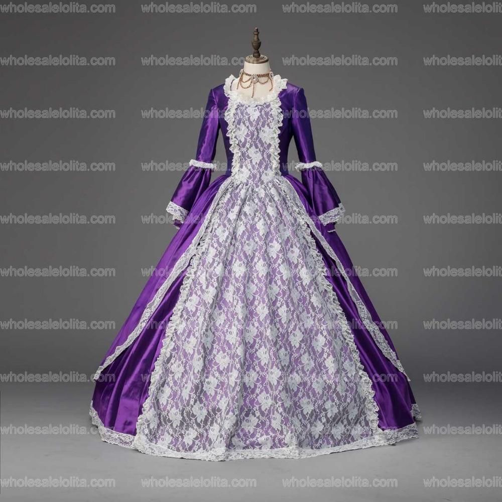 Marie Antoinette Renaissance Christmas Caroler Dress Ball Gown ...