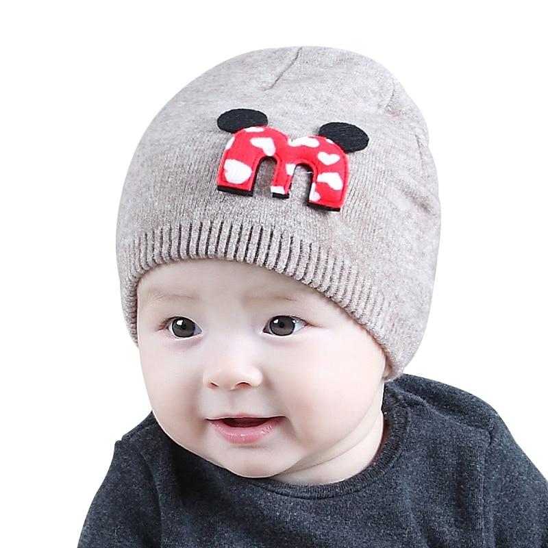 Solid Baby Hat Cotton Crochet Baby Beanie Warm Winter Infant Hat Autumn Knitted Newborn Beanie Cute Tire Hat Baby Girls Clothing