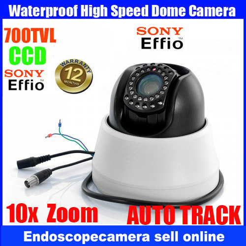 AUTO TRACK Home security 4 inch MINI CCTV Sony CCD 700TVL 10X Zoom PTZ Dome IR Camera with LED light visio 4 pcs cctv dome camera 700tvl ccd sony cctv camera 24leds ir indoor home surveillance system security camera system sony