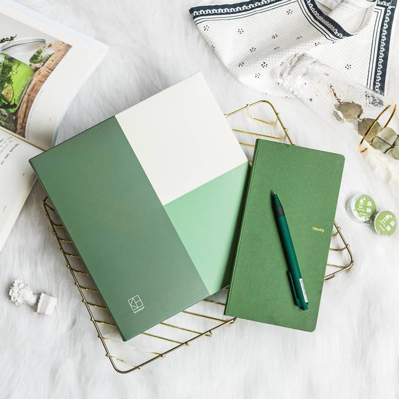 Wild Pure Color Theme Nature Cloth Cover Weekly Plan Book Set