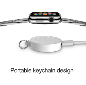Portable Magnetic Wireless Charger For Apple Watch 1234 Series Usb Power Charging For IWatch With Keychain Smart Watch Charger(China)