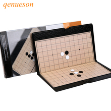 High Quality Portable Go Game Set Mini Chessboard Magnetic Chess Pieces Outdoor Sports Goods Chess Board Games Souptoys qenueson high quality chess magnetic mini portable plastic chess set board games for friends children s