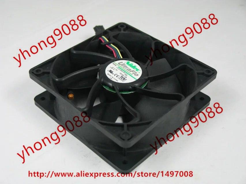 Nidec V12E12BS1B5-07 DC 12V 1.85A 4-wire 8-pin connector 120x120x38mm Server Square Cooling Fan new nidec v60e12bma7 07 6038 12v 0 65a 6cm 4pin server cooling fan