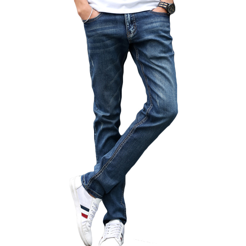 Fashion Summer Mens Jeans Male Black Blue Ankle Length Pants Korean Design Boys Denim Pencil Style Man Skinny Jeans Men Pants