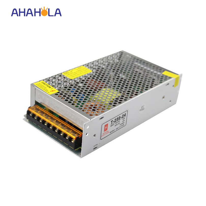 все цены на led switching power supply 24v 10a 250w ac 110v 220v to dc 24v transformer aluminum case онлайн