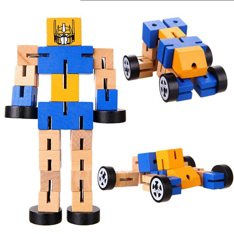 Aliexpress.com : Buy Wooden Transformation Robot ...