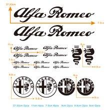 18 шт. наклейка для Alfa Romeo Giulia Stelvio зеркало заднего вида диски сплава колеса с наклейкой сиденья все наклейки на Автомобильный кузов#0132