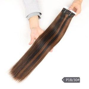 Image 4 - Sleek Pre Farbige P4/27 P4/30 P1B/30 P6/2 Menschliches Haar Bundles Brasilianische gerade Haar 1 Bundle Remy Haar Verlängerung 113g