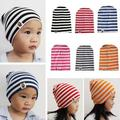 2016 New Children Striped Cap 1-3 Years Old Fashion Baby Cap Knitted Warm Cotton Beanies Toddler Kids Girl Boy Print Beanie Hats
