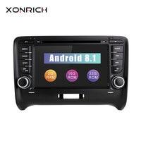 Xonrich Android 8,1 dvd плеер автомобиля 2 Din для AUDI TT MK2 gps Радио Стерео 2006 2008 2014 wi Fi навигации Сенсорный экран мультимедиа