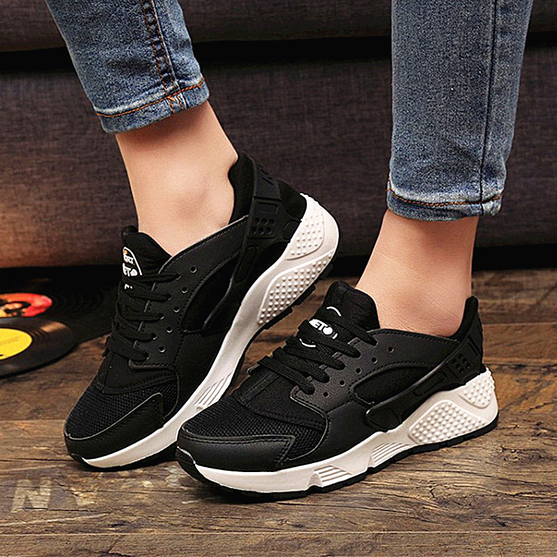 2018 Fashion Trainers Sneakers Women Casual Shoes Air Mesh Grils Wedges Canvas Shoes Woman Tenis 1