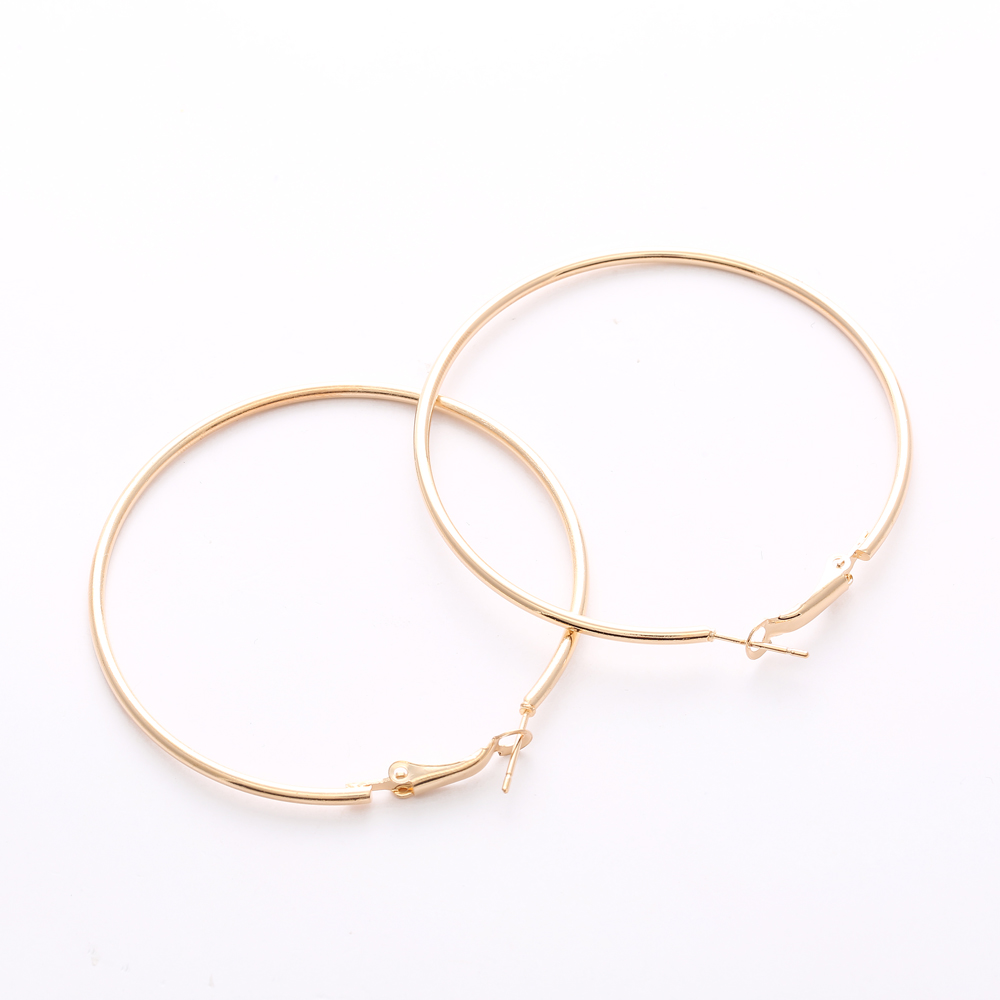 30 80mm Personality Circles Hoop Earrings For Women Fashion Gold Silver Color Jewelry Trendy Retro Round Circle In From