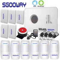 Sgooway APP système d'alarme GSM russe anglais espagnol polonais sans fil alarme de sécurité à domicile système d'alarme GSM