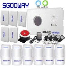 Sgooway sistema de alarme gsm residencial, sistema de alarme sem fio polonês e russo, inglês, espanhol, vigilância residencial