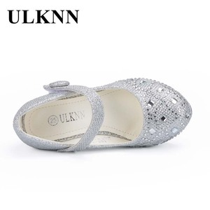 Image 5 - ULKNN – Chaussures princesse pour fille, sandales à talons et strass scintillants, accessoires de soirée, pour fillettes