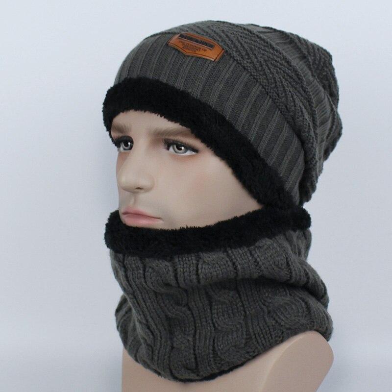 efb40d358ae Dropwow New Fashion Hats Men Woman Winter Ski Hat Scarf Set Head ...