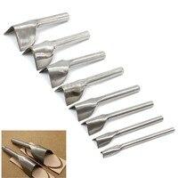 6Pcs Set 15 40MM Leather Craft Tools V Shape Cutter Punch Strap Belt Wallet End For