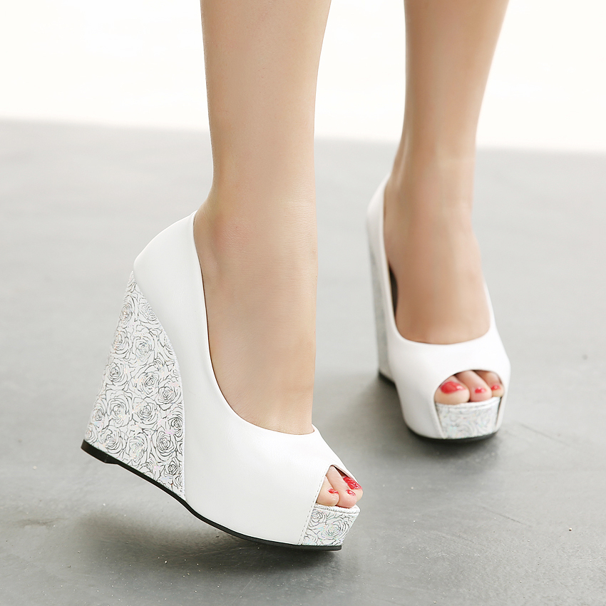 Aliexpress.com : Buy Summer Open Toe Women Wedge Shoes High Heels ...