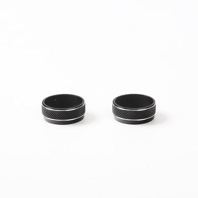 MOPAI Aluminium Car Interior CD Sound Volume Tune Adjust Knob Button Ring Decoration for Jeep Renegade 2015-2017 Car Styling