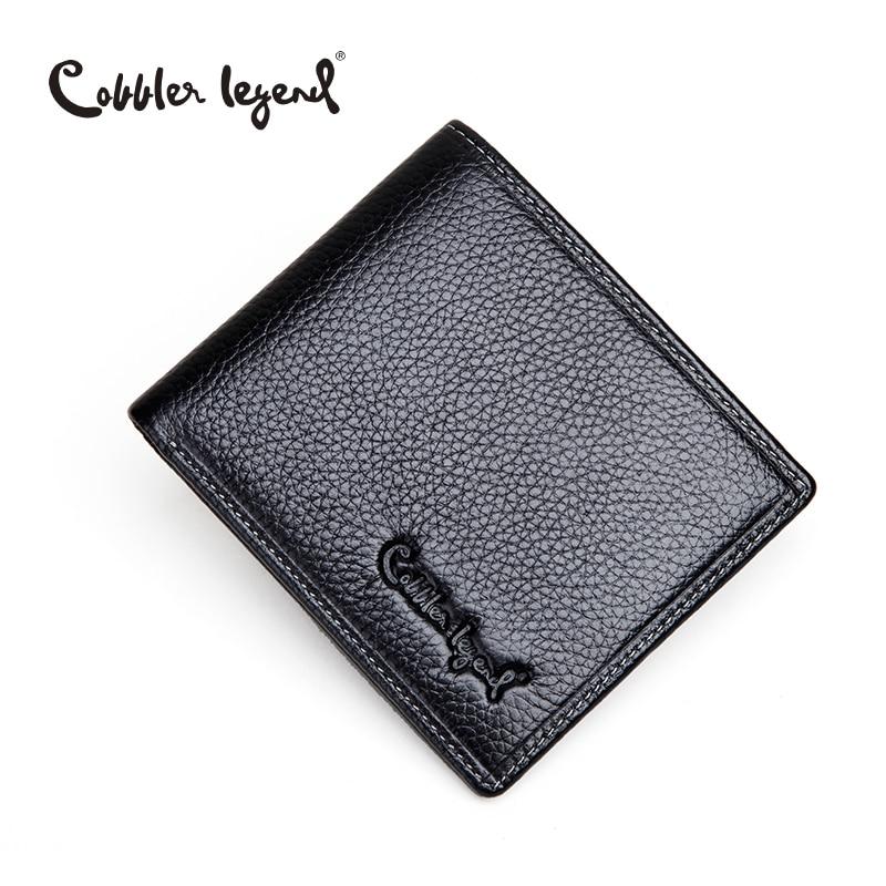 Cobbler Legend Brand Genuine Leather Slim Men's Wallet Men's Wallets