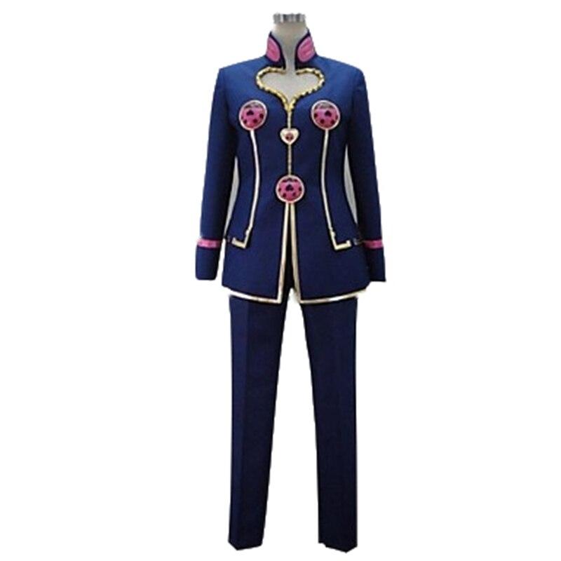 Anime JoJo's Bizarre Adventure Jotaro Kujo Cosplay Costume coat pant set customized costume