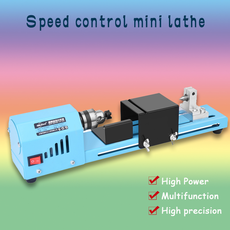 150W / DIY Woodworking Buddha Pearl Lathe Machinery Electric Woodworking Mini Lathe / Grinding Polishing Machine