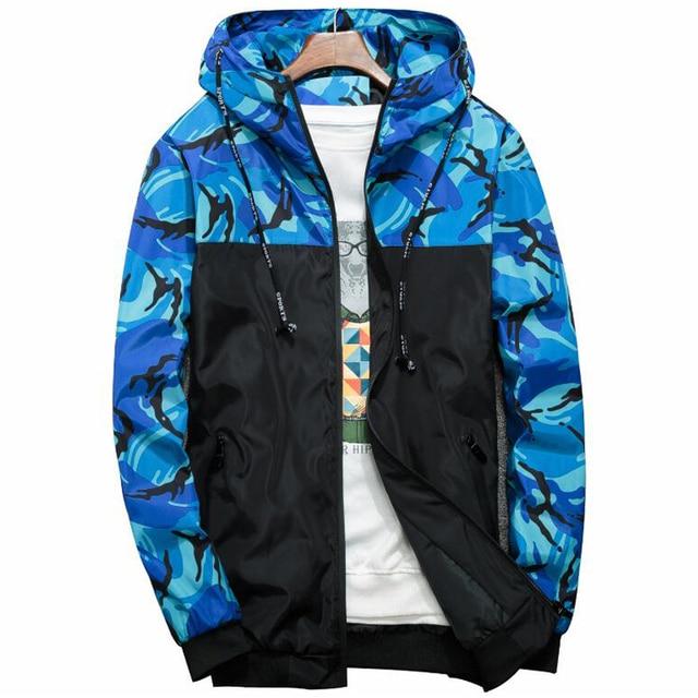 Windbreaker Jacket Men Camouflage Hooded Bomber Jackets Mens Brand Slim Fit Windproof Hip Hop Streetwear 6XL Camo Coats Clothes