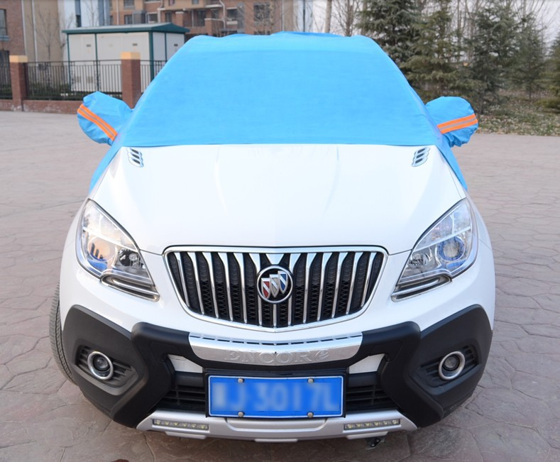 thick winter snow blocked bust sewing half suv car hood front windshield cover car covers. Black Bedroom Furniture Sets. Home Design Ideas