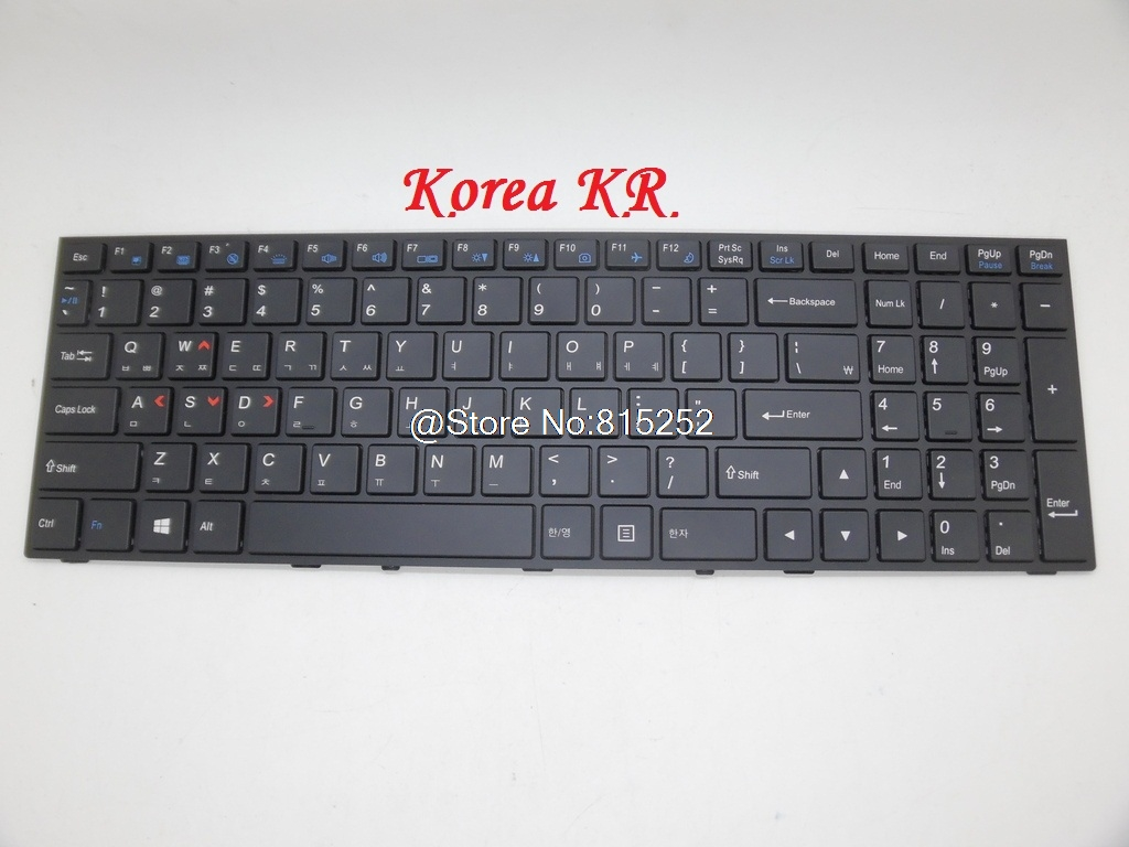 Laptop Keyboard For CLEVO P650RE3-G P650RA P651RE6-G P651SE P651RG-G P655SA P655SE P670RA P671SW Germany/Brazil/Korea/Russia RU laptop keyboard for acer silver without frame swiss g sw v 121646ck2 sw aezqss00110