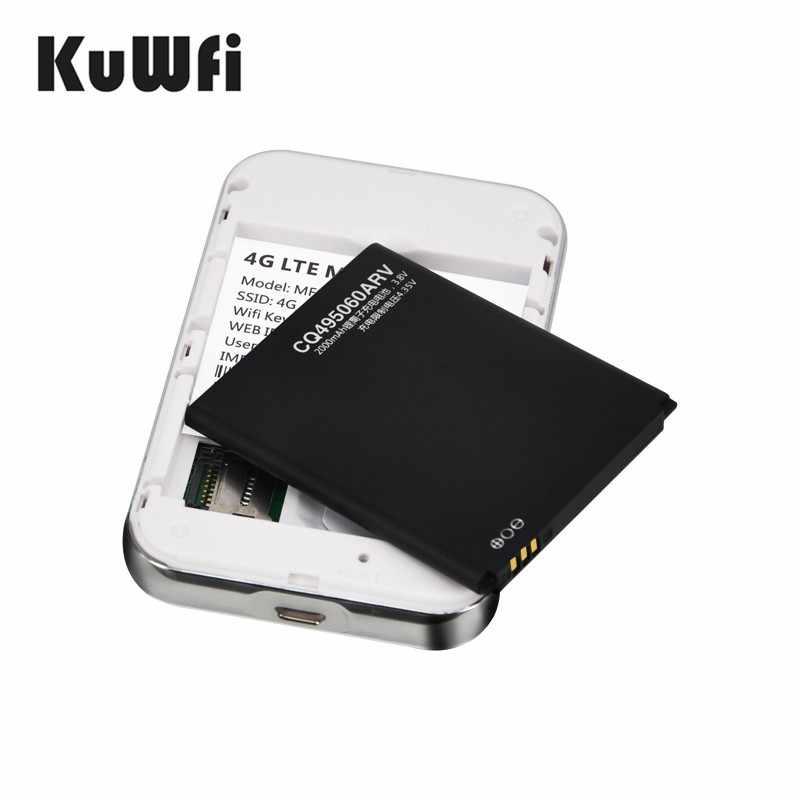 Enrutador Wifi con bolsillo 4G LTE 3G 4G, módem USB con tarjeta SIM de 100 Mbps, enrutador móvil Hotspot para coche, batería de viaje de 2000mAH