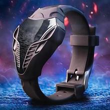 Модные Черный цвет Мужские светодиодный цифровые часы Cobra треугольный циферблат силиконовые спортивные часы