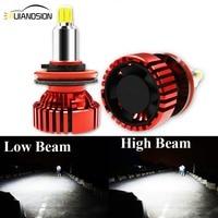 Pair 6 sides Auto Headlamp 6500K Light Bulb 12 30V Car Headlight H11 CREES LED H7 H1 H8 HB3 HB4 9005 9006 72W 9000LM IP68 Grade