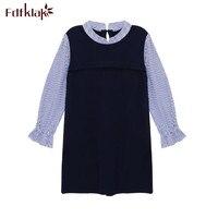 Fdfklak הריון קוריאני-מזויפים אביב קיץ בגדי הריון לנשים שרוול ארוך שמלות 2 Pieces בהריון שמלת vestido gestante