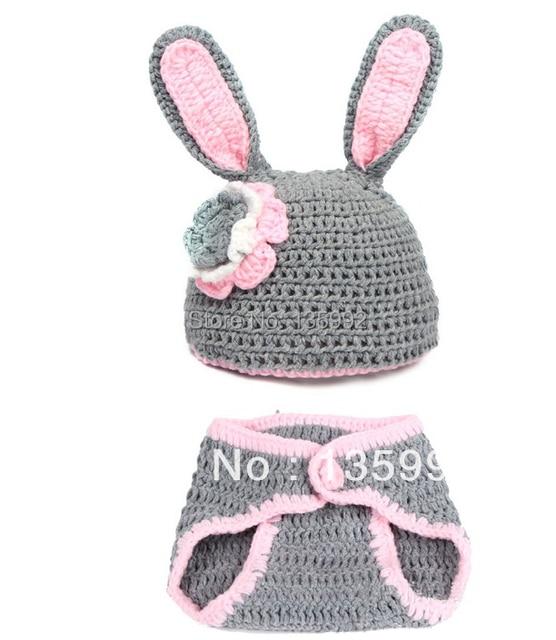 Hechos a mano de ganchillo conejo anmals gorros sombreros gorras ...