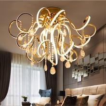 Креативная Художественная Современная простая светодиодная Люстра для гостиной с кристаллами K9, роскошный ресторан, освещение для спальни