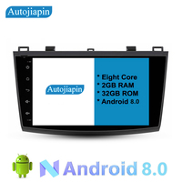 AUTOJIAPIN 9 Eight Core Android 8.0 2G RAM 1024*600 Car GPS navigation For NEW MAZDA 3 2011 With Stereo Radio Audio