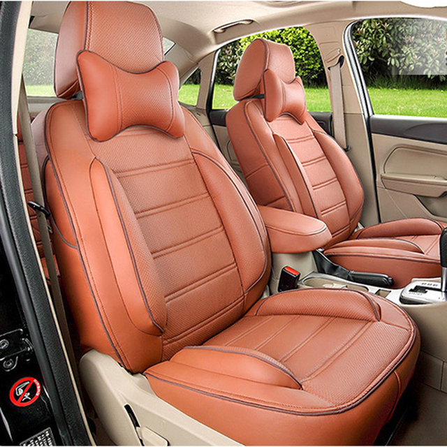 CARTAILOR Cover Seats Fit for Toyota Fortuner Car Seat Protector PU Leather Car Seat Cover Set Interior Accessories Car Styling