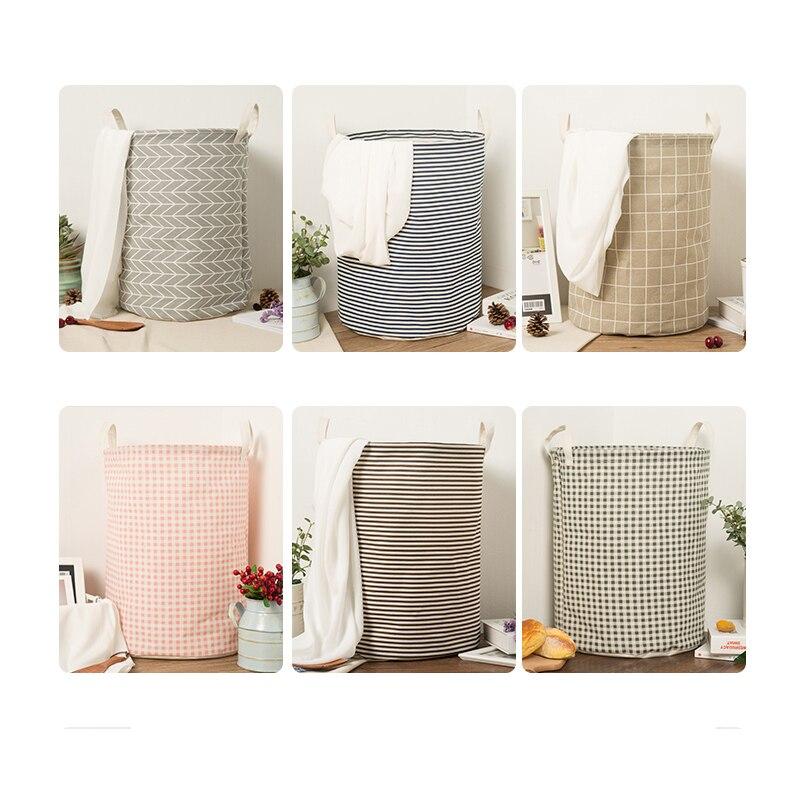 Nueva gran lavandería bolsa ropa cestas de almacenamiento inicio ropa barril bolsas niños juguete de almacenamiento de la cesta